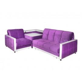 Фиолетовый раскладной Угловой диван Жаклин