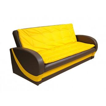 Желто-коричневый раскладной прямой диван Даллас