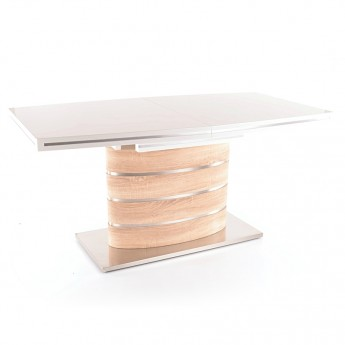 Белый раздвижной обеденный стол Fano