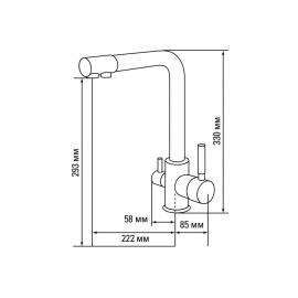 Кухонный смеситель Gerdamix DORADO F108 (песок)