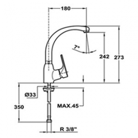 Кухонный смеситель Teka Mtp 915 хром