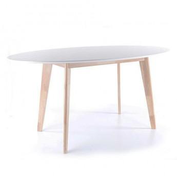 Белый овальный обеденный стол Montana