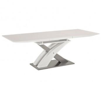 Белый раздвижной обеденный стол Raul