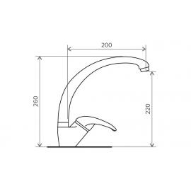 Кухонный смеситель Tolero c высоким изливом №823 (темно-бежевый)