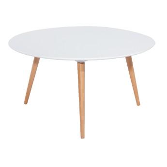 Белый круглый журнальный столик Nolan C
