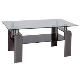 Серый стеклянный журнальный столик Stella