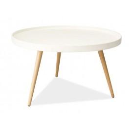 Белый круглый журнальный столик Toni B