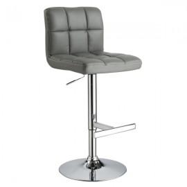 Серый барный стул С-105