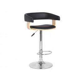 Барный стул с мягкой спинкой С-923 черный