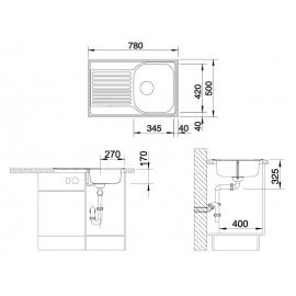 Кухонная мойка Blanco Tipo 45 S Compact (матовая)