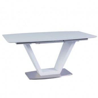 Белый раздвижной обеденный стол Morano