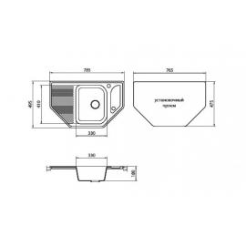 Кухонная мойка Granicom G002 (шампань)