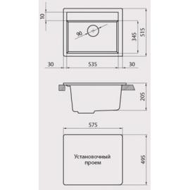 Кухонная мойка Granicom G019 (серебристый)