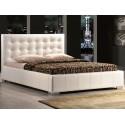 Двуспальная кровать из экокожи Calama
