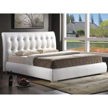 Двуспальная кровать из экокожи Calenzana