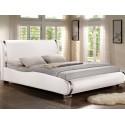 Двуспальная кровать из экокожи Santosa
