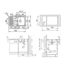 Кухонная мойка Teka PRINCESS 1 1/2B 1/2D