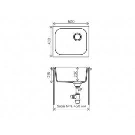 Кухонная мойка Polygran F-17 №14 (серый)