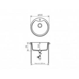 Кухонная мойка Tolero R-108E №102 (сафари)