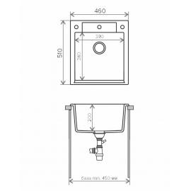 Кухонная мойка Tolero R-117 (серый)