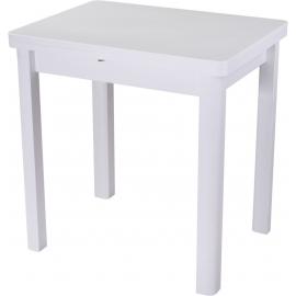 Раскладной обеденный стол с каменной столешницей Реал М-2 белый/04