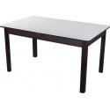 Раздвижной стол с каменной столешницей Румба ПР-2 белый/венге/04