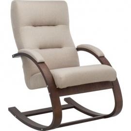 Кресло-качалка Leset Милано бежевое/орех