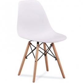 Белый пластиковый стул Amy
