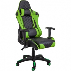 Геймерское кресло RACER черно-зеленое
