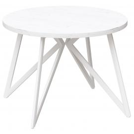 Круглый обеденный стол Женева дуб белый