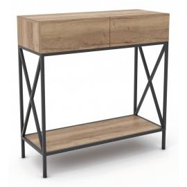 Консольный столик в стиле лофт Less черный