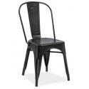 Металлический стул SIGNAL Loft черный матовый