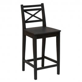 Деревянный полубарный стул 600 черный