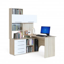 Компьютерный стол КСТ-14 дуб сонома/белый