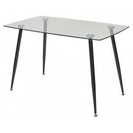 Стеклянный обеденный стол Ron 120x70