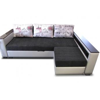 Угловой диван-кровать с пуфом Ника СК 1124