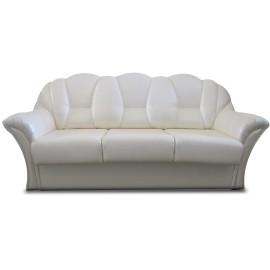 Белый кожаный прямой диван-кровать Венера-3 гл 1513