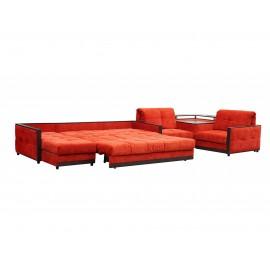 П-образный диван со спальным местом Жаклин 0347
