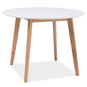 Круглый белый обеденный стол Mosso II