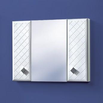Навесной шкафчик с зеркалом в ванную Акваль Зара 85 см