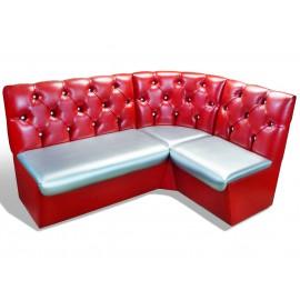 Угловой диван на кухню Мадрид-2 красный