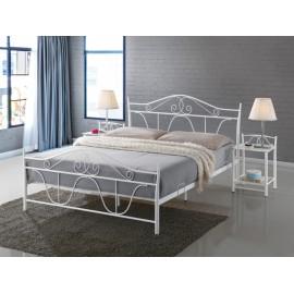 Двуспальная металлическая кровать Denver белый