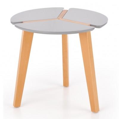 Белый квадратный журнальный столик Alvik дуб