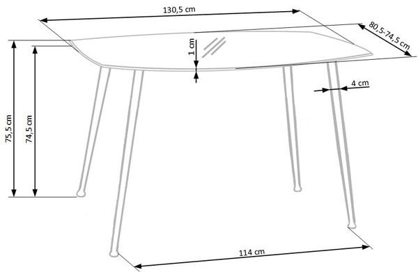 Размеры стола Next