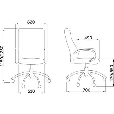 Размеры кресла Лондон