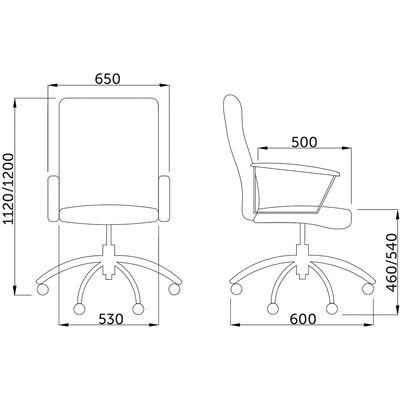 Размеры кресла Мессина